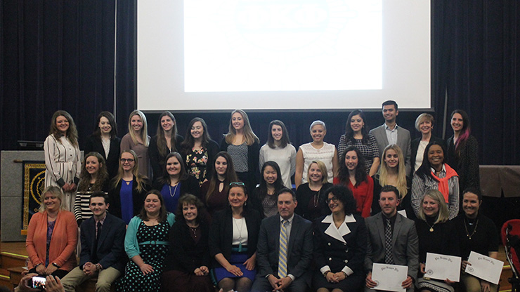 New Members Inducted in Phi Kappa Phi society