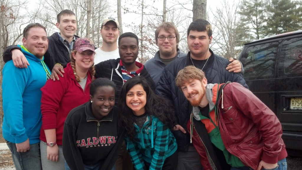 Student Activities Director Tim Kessler-Cleary and group of students to WorkFest 2013
