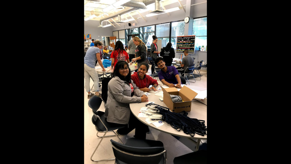 Caldwell Students volunteering on Caldwell Day