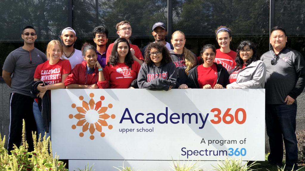Group of Caldwell Students Volunteering in Academy 360 upper school