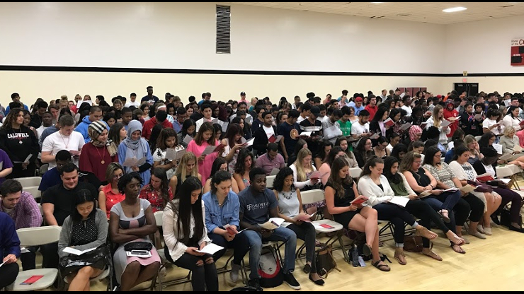 Class of 2021 students in Convocation event