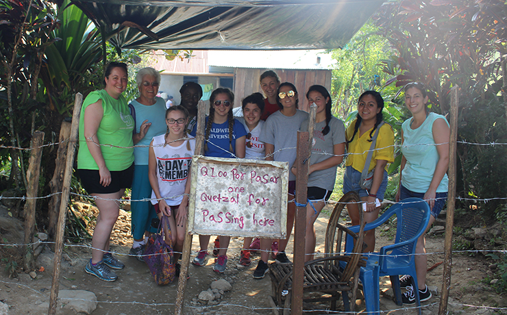 The Lyndhurst, New Jersey, resident and six other Caldwell students on the annual volunteerism trip to the Central American country