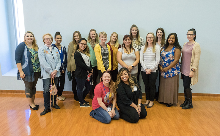 Group of Art Therapy Students and Essex County Hospital Center Staffs