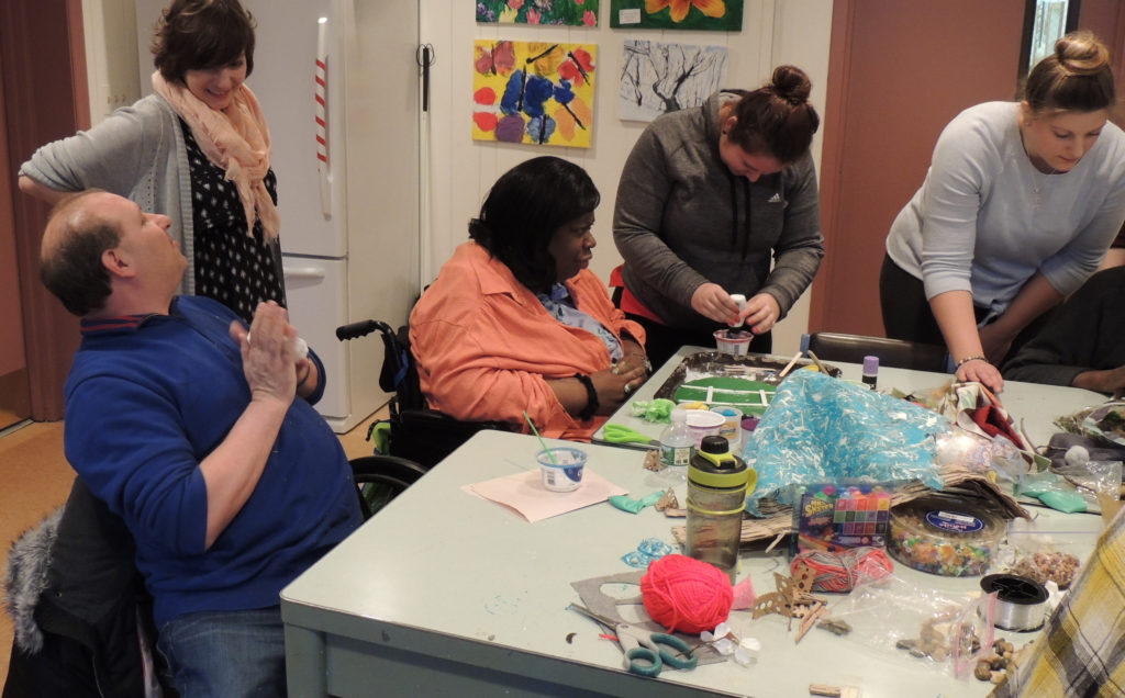 Art Therapy Students Provide Day of Service at Vision Loss Alliance.