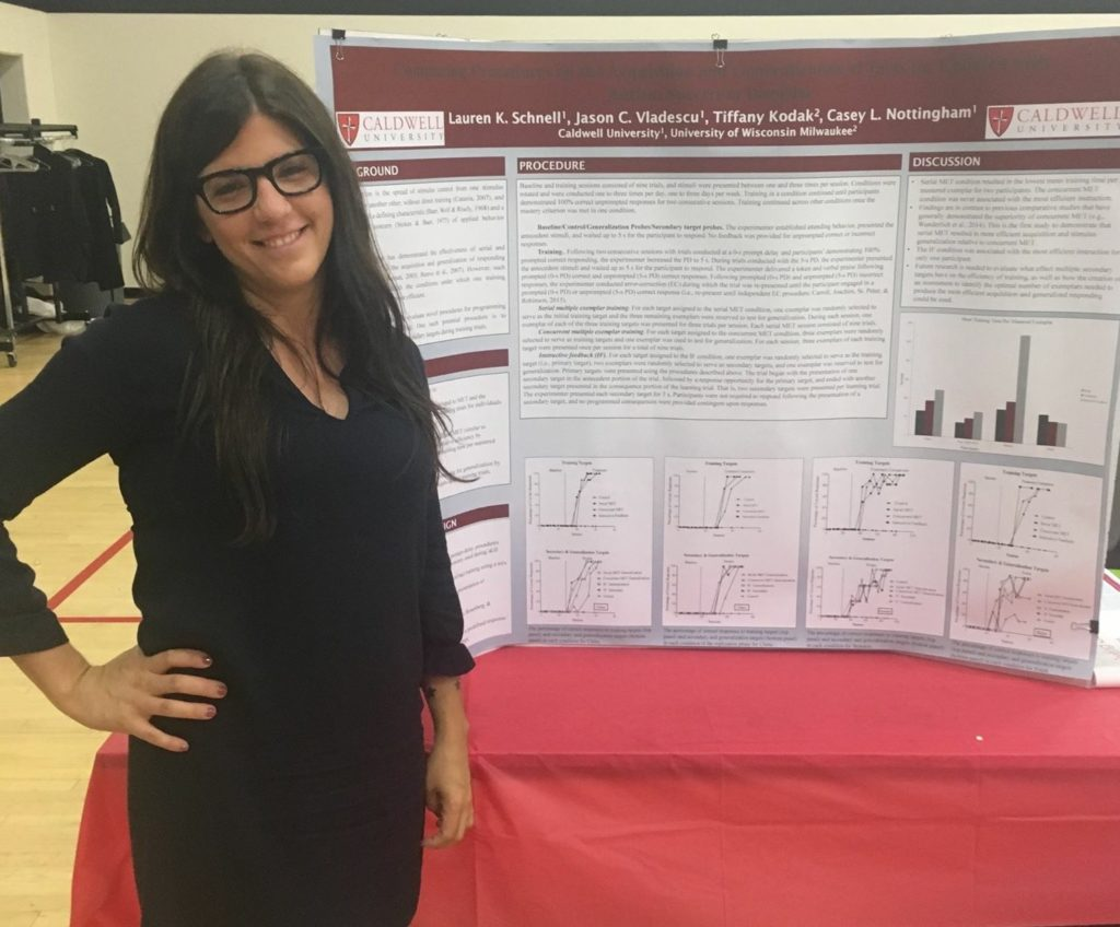 Lauren Schnell is pictured here participating in the Caldwell University Research and Creative Arts Day.