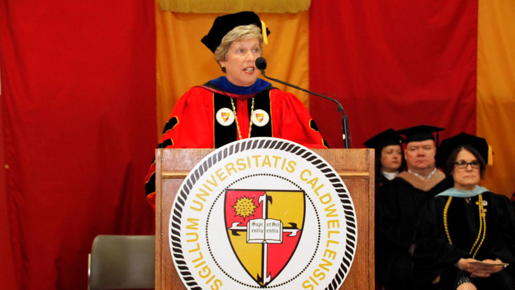 President of Caldwell University at 76th annual commencement.