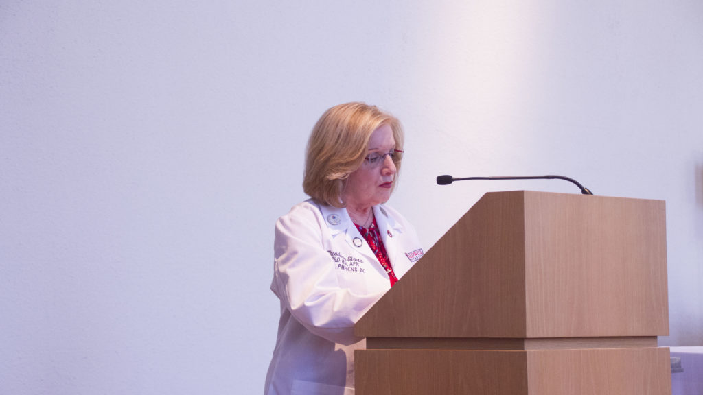 Director of Nursing Dr. Theodora Sirota Addressing the Ceremony