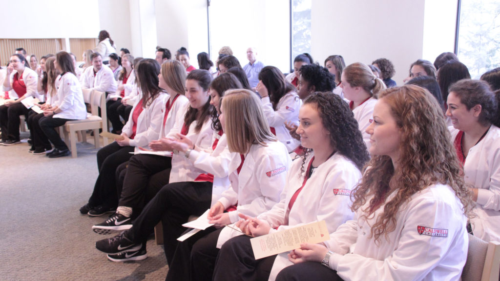 Junior Nursing Students at Annual Blessing of Hands Ceremony