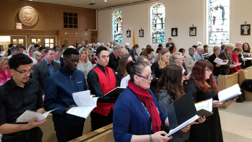 Caldwell community gathered for a final Mass in the Mother Joseph Residence Hall Chapel