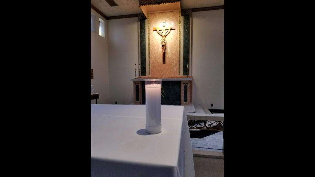 Stage for the Mass Prayer and Celebration at Mother Jospeh Chapel