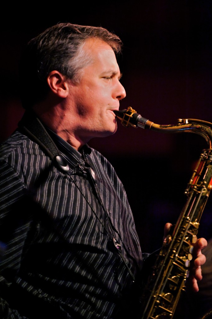 Music Faculty Rob Middleton playing saxophone