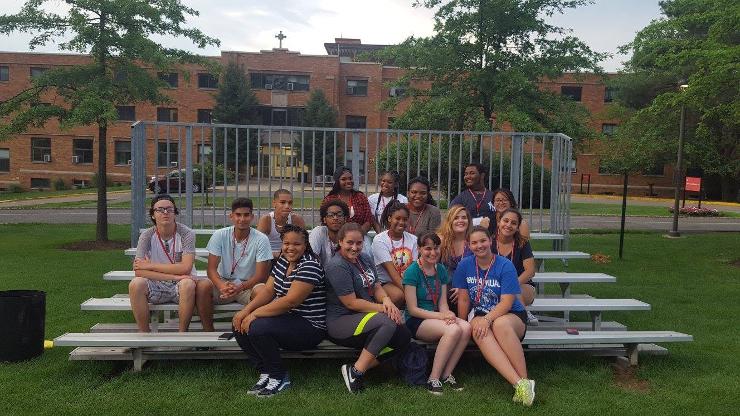 High School Students at Spirituality and Leadership at Summer Seminar