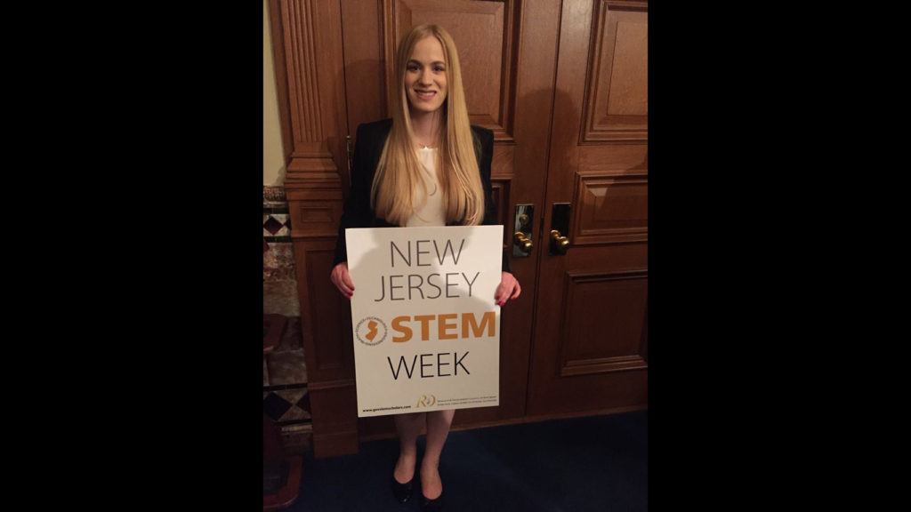 Caldwell student, Governor's STEM Scholar, presenting at NJ State House