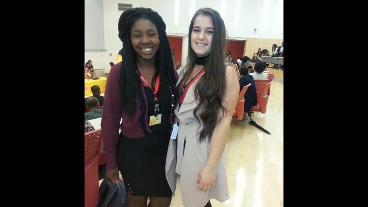 Biology students Shanice Edwards and Roksana Korbi