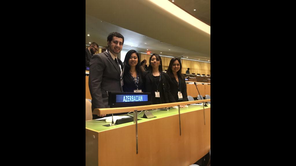 Padriptee Lama, Patrick Rotondo, Daniele Roca and Katherine Llangari at United Nations