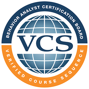 Logo of Verified Course Sequence (VCS) from behavior analyst certification board.