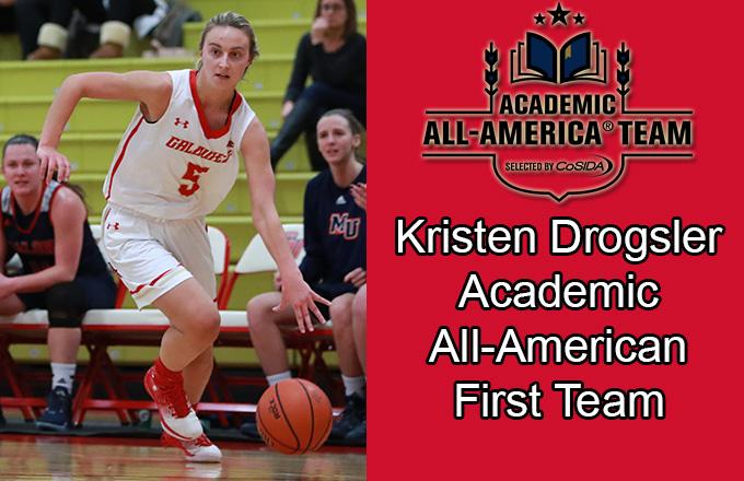 Caldwell University women's basketball player Kristen Drogsler