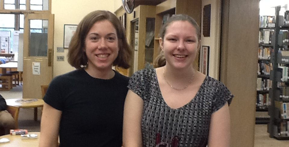Image of the 2 new librarian Rebecca Driscoll, MLIS and Cathryn Miller, MLIS