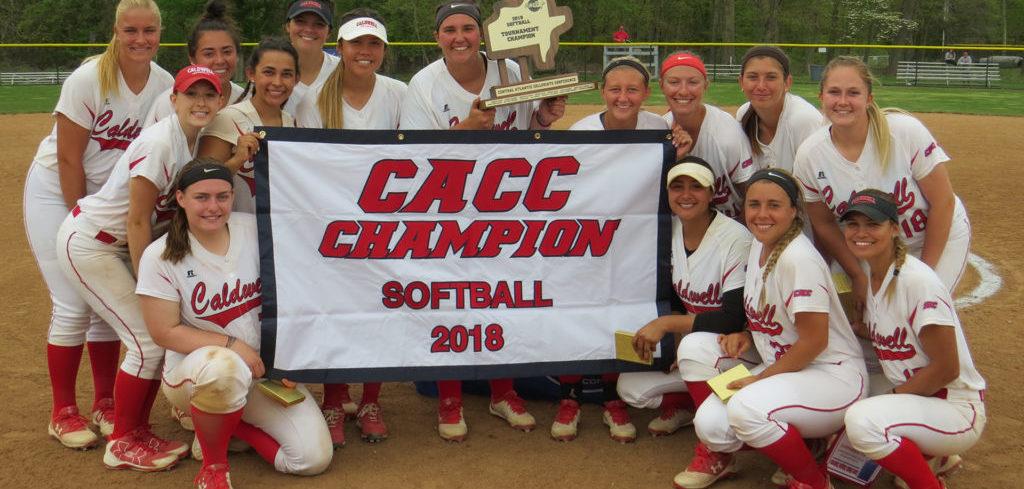 Caldwell University Softball team after winning the tournament