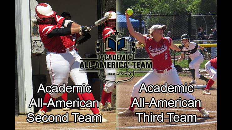 Caldwell University softball players Marisa Monasseri and Sydney Ponto in All- American Team