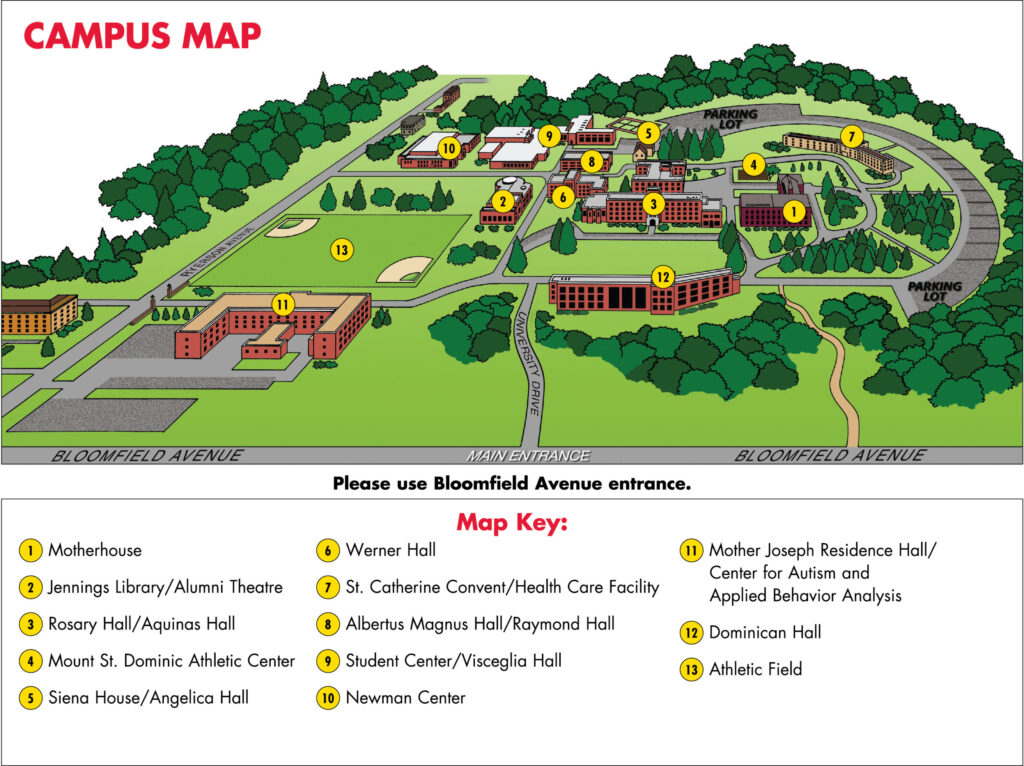 Image of Campus Map Caldwell University