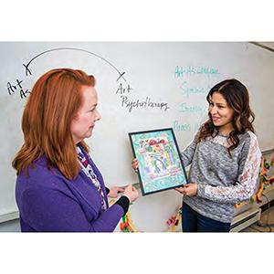 classroom art presentation