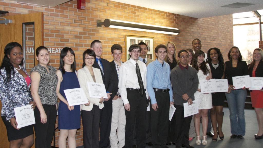 Inductees of Delta Mu Delta Honor Society