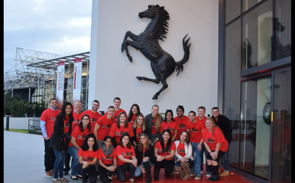 Caldwell University, School of Business and CIS, student's  group photo during an international trip.