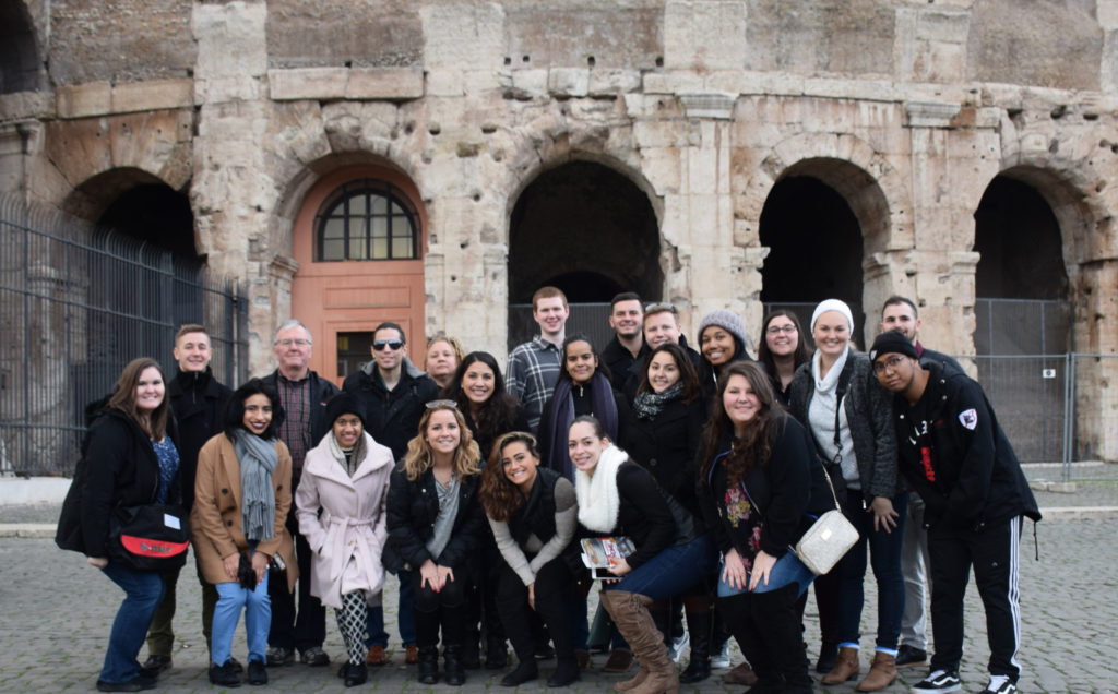 Caldwell University, School of Business and CIS, student's  on an international trip.