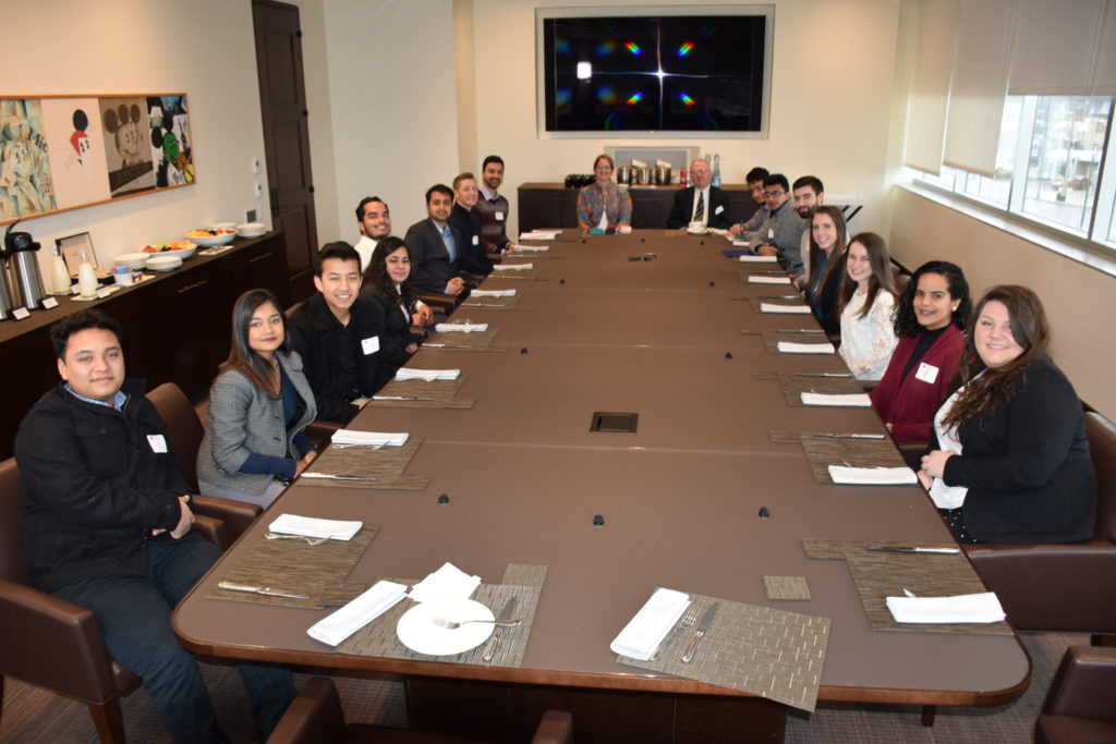 Caldwell University, School of Business and CIS, student's visit to JP Morgan Chase.