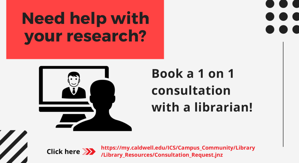 1 on 1 consultation with a librarian Flyer