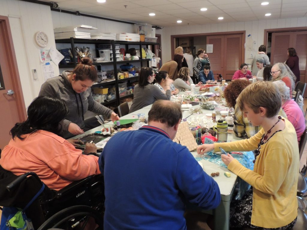 Art Therapy Counseling students out for a day of service