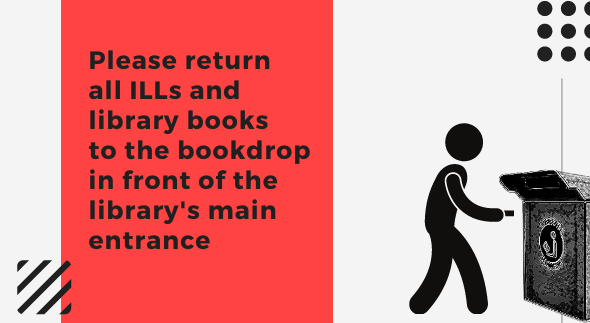 Book return procedure for Jennings Library Fall 2020
