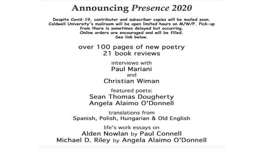 English Department Presence 2020 event