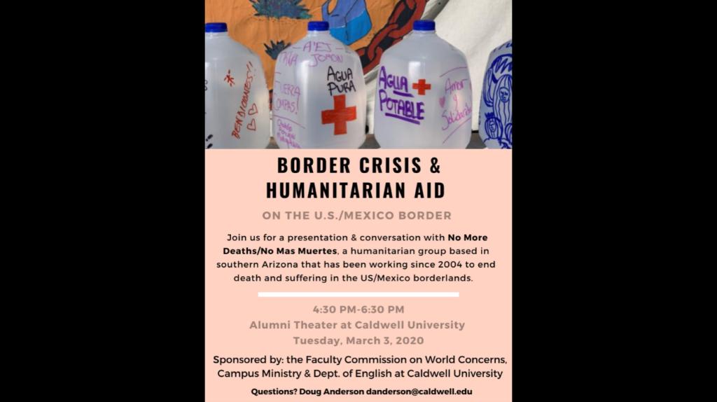 Border crisis and humanitarian aid slider image