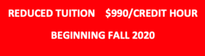 Reduced tuition fall 2020