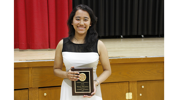 Alumna Tulaja S. will attend the Ph.D. Chemistry program at U. of Delaware.