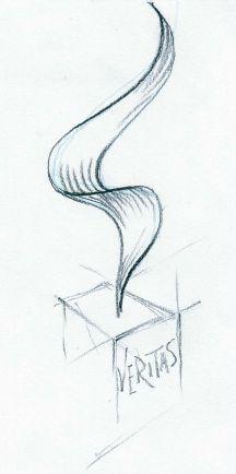 Sketch of Veritas award