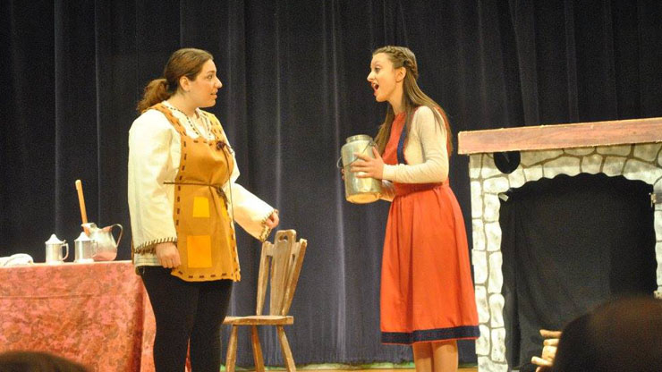 Gretel-shows Hansel the Jug of Milk