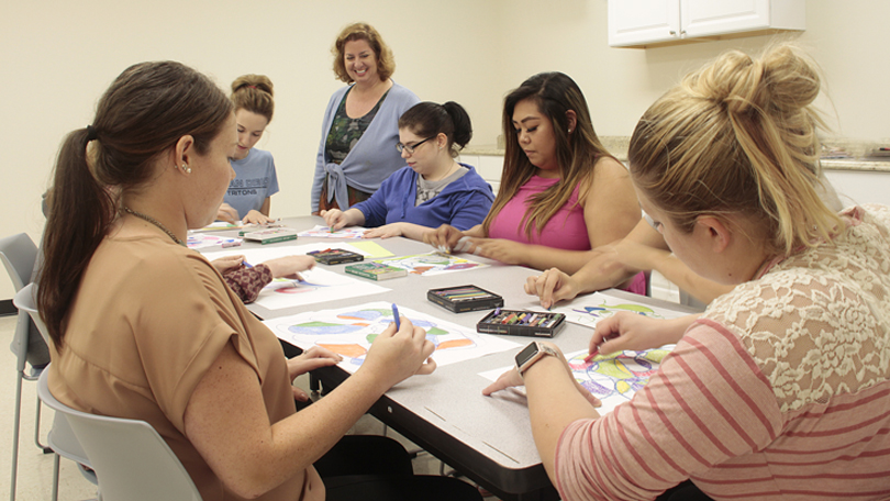 Art therapy students