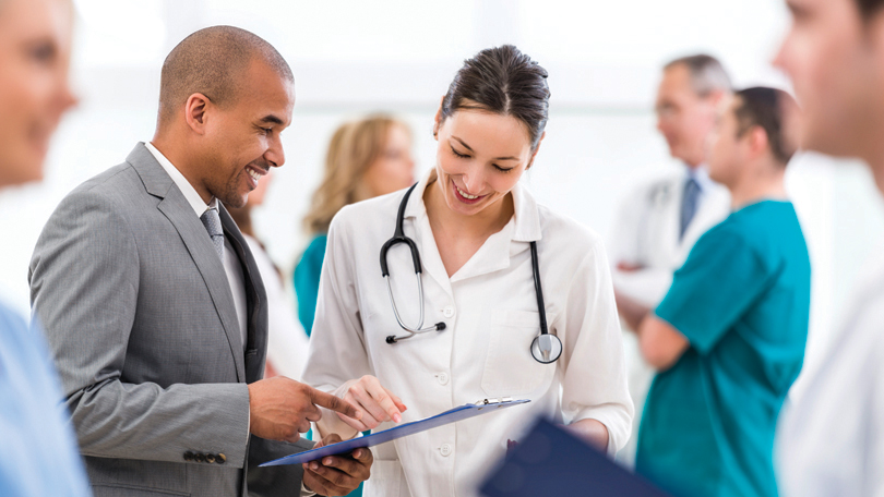 Nurse in clinical setting