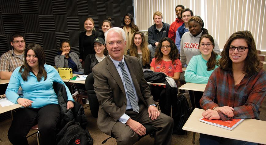 Students in Communication and Media Studies classroom