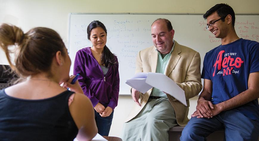 Professor Domenic Maffei with students