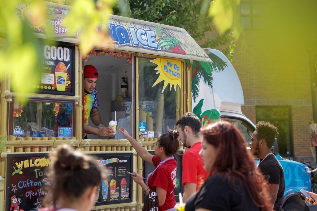 food trucks at club fair