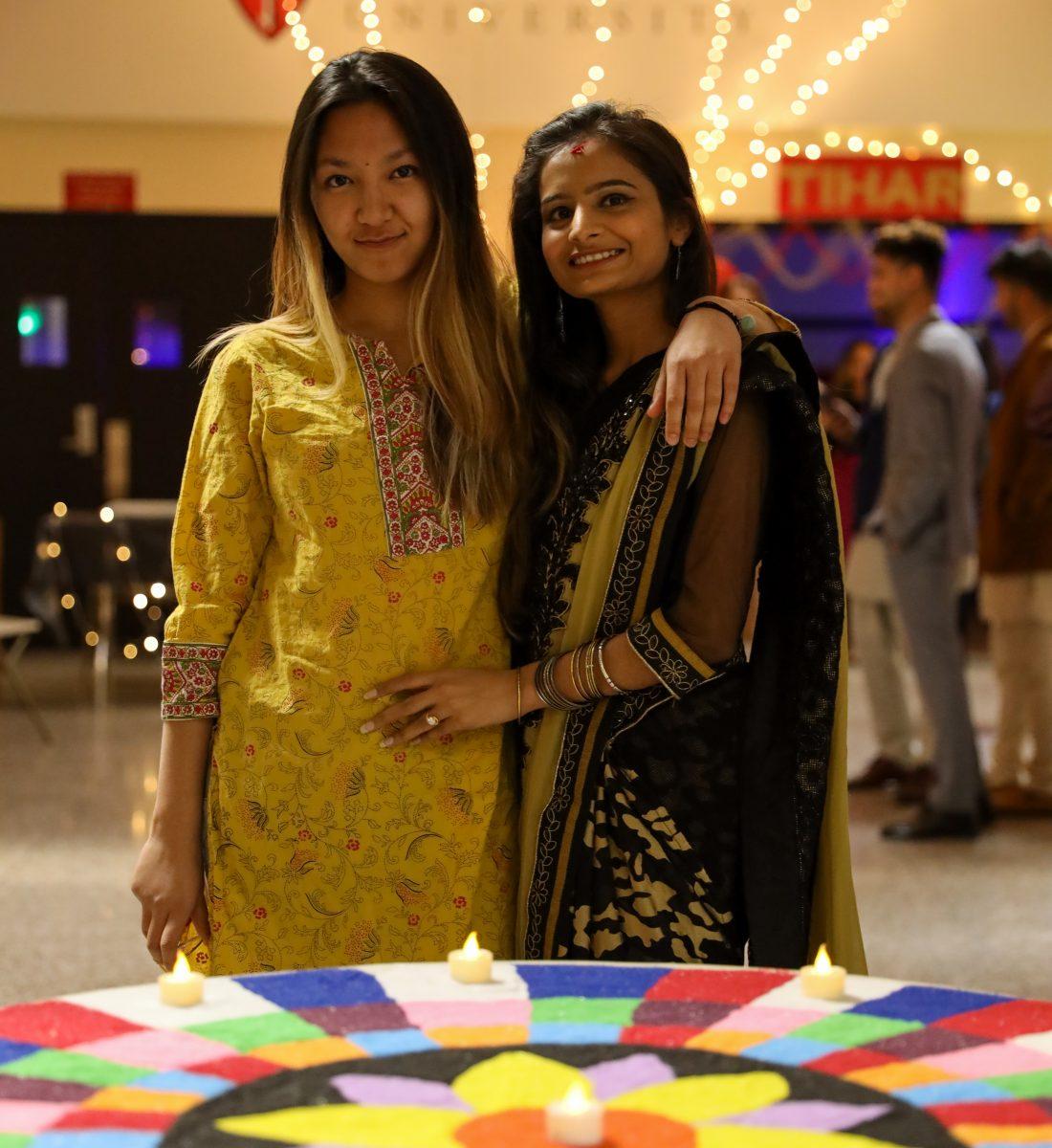 Students at CU Tihar event