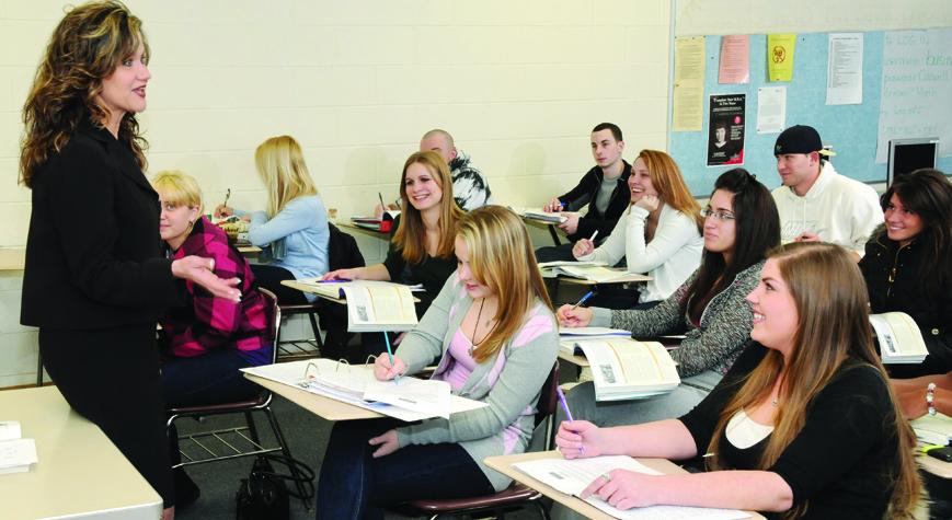 Accounting class at Caldwell University