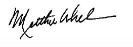 President Matthew Whelan's signature