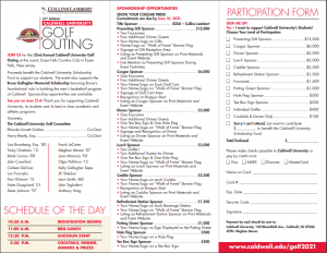 Golf outing 2021 brochure