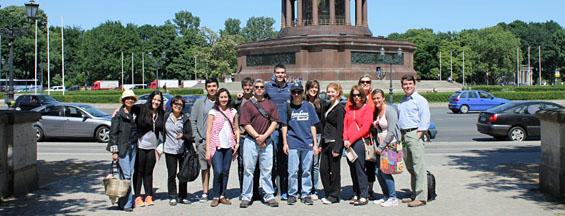 Caldwell students on study abroad program.