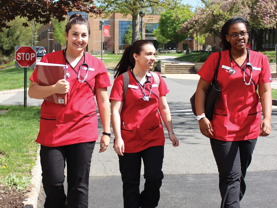 Health Science students on campus